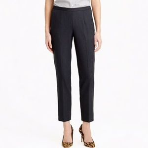 J. Crew cropped pants with small ankle slit size 6
